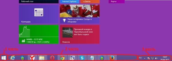 Панель задач Windows 7 такая же как и Windows 8