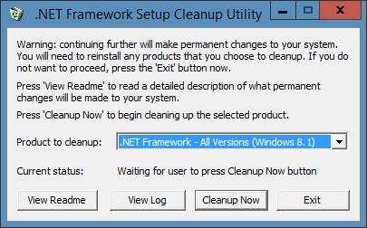 NET Framework Cleanup Tool скачать