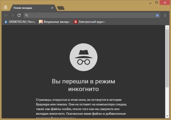 Инкогнито Google Chrome