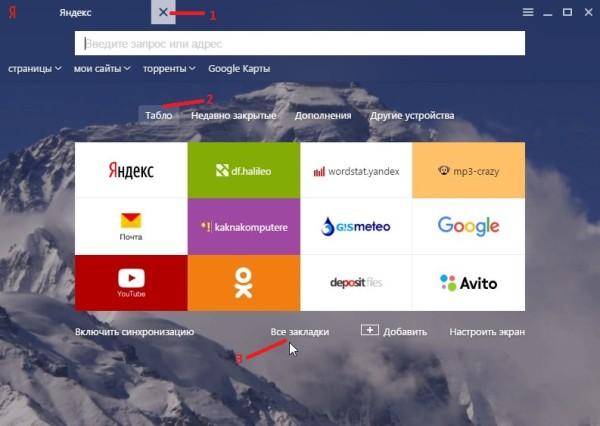История браузера Яндекс как посмотреть