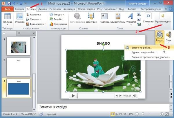 Создание презентации в PowerPoint